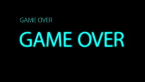 Game Over footage. 4k Video Game Over screen stock illustration
