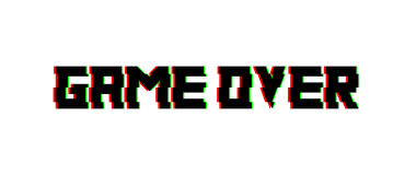 Game over glitch design. Vector. For banners, web pages, screen savers, presentations Royalty Free Stock Photography