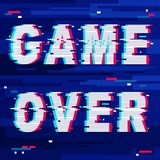 Game Over Glitch Text Distorted Stock Photo