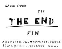 Game over. Hand drawn. Vector eps8 Stock Photography