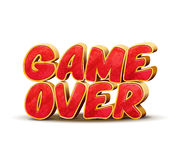 Game over icon for game design. Vector interface message. Game over icon for game design. Game over vector interface message. Game end, text game over, icon game Stock Images