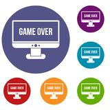 Game over icons set royalty free illustration