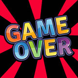 Game over letter composition Royalty Free Stock Photos