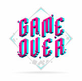 Game over lettering. Game over isometric lettering for your design Stock Images