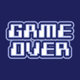Game over logo design Stock Photo