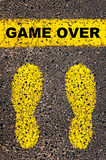 Game Over message. Conceptual image Royalty Free Stock Photo