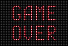 Game Over Message Stock Photos