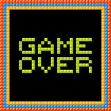 Game Over Message Written in Pixel Blocks. Assets are on separate layers vector illustration