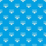 Game over pattern seamless blue. Game over pattern repeat seamless in blue color for any design. Vector geometric illustration Royalty Free Stock Image
