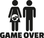 Game over - pregnant couple parents to be royalty free illustration