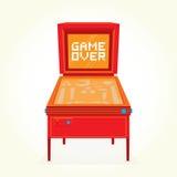 Game over retro pinball machine Royalty Free Stock Photo
