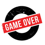 Game over rubber stamp Stock Photography