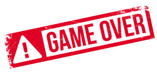 Game over rubber stamp Stock Photo
