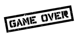 Game Over rubber stamp Royalty Free Stock Photography