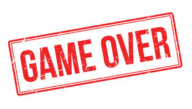 Game Over rubber stamp Stock Photos
