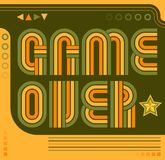 Game Over screen eighties video games style. Eps available Stock Photos
