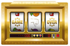 Game Over Slot Machine Gold Royalty Free Stock Image