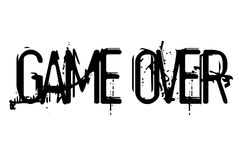 Game Over stamp typographic stamp. Game Over stamp. Typographic sign, stamp or logo Stock Photos