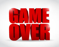 Game over text sign illustration design Royalty Free Stock Photo