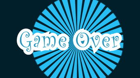 Game Over typography animation color motion footage stock footage