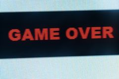 Game over words Stock Photo