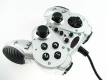 Game pad. Isolated on the white Royalty Free Stock Images