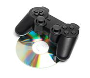 Game Pad and a CD Royalty Free Stock Photos