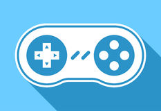 Game pad icon with shadow Stock Photo