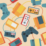 Game Pad Seamless Pattern Stock Image