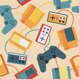 Game Pad Seamless Pattern Stock Image