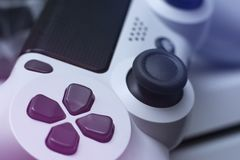 Game pad. Video game controller. Close up royalty free stock image