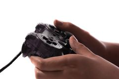 Game pad for video game. And female hands Royalty Free Stock Photography
