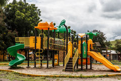 Game park outdoors for chilndren Royalty Free Stock Photo