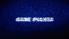 Game Paused Text Digital Noise Twitch Glitch Distortion Effect Error Animation. stock illustration