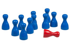 Game pawns Royalty Free Stock Image