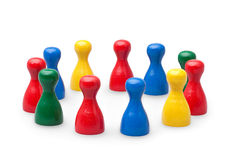 Game pawns Stock Photo