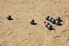 Game of petanque Royalty Free Stock Photos