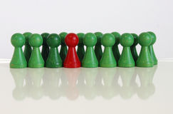 Game piece figure. Color colorful different token stock photography