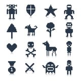 Game Pixel Characters Stock Photo