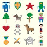 Game pixel characters Royalty Free Stock Photography