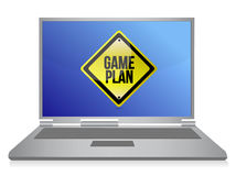 Game plan computer illustration Royalty Free Stock Photo