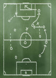 Game plan on greenboard. Made in 3d software Stock Photo