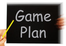 Game Plan Message Means Strategies And Tactics Stock Photo