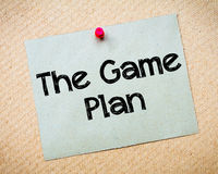 The Game Plan Royalty Free Stock Images