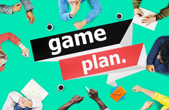 Game Plan Planning Strategy Direction Goal Solution Concept Royalty Free Stock Photos