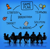 Game Plan Strategy Planning Tactic Target Concept Stock Photos