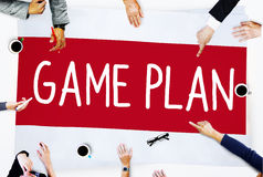 Game Plan Strategy Tactic Planning Vision Concept Royalty Free Stock Images