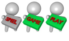 Game play 3d Royalty Free Stock Photography
