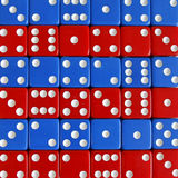 Game play dice rot blau number random Stock Photography