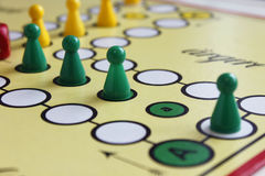 Game play figure boardgame luck angry Royalty Free Stock Images
